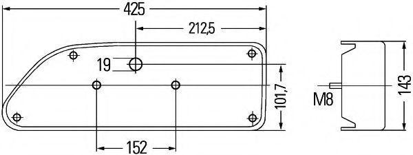 HELLA   Luce posteriore 2VP 007 907-041