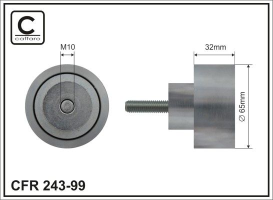 CAFFARO Deflection / Guide Pulley, v-ribbed belt for IVECO - item number: 243-99