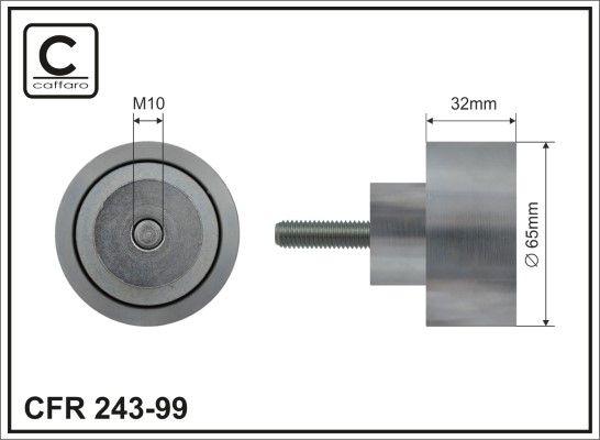 CAFFARO Rolka kierunkowa / prowadząca, pasek klinowy zębaty do IVECO - numer produktu: 243-99