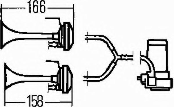 3PB003001601 Signalhorn HELLA 3PB 003 001-601 Stor urvalssektion — enorma rabatter