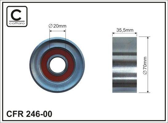 CAFFARO Rolka kierunkowa / prowadząca, pasek klinowy zębaty do MAN - numer produktu: 246-00
