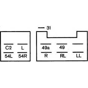 Hella 4DW 002 834-121 Intermittenza di lampeggio