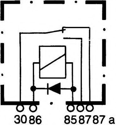 HELLA   Relais, Arbeitsstrom 4RD 003 520-667