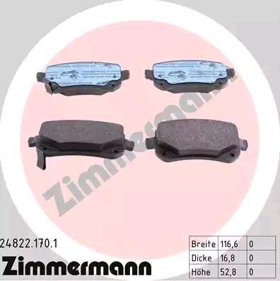 Original DODGE Bremsbelagsatz 24822.170.1