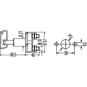 6EK 002 843-071 Hauptschalter für Batterie HELLA