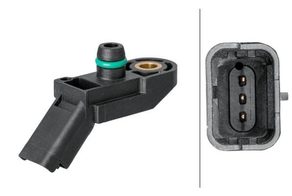 6PP 009 400-161 HELLA ohne Kabel Nennspannung: 5V Sensor, Saugrohrdruck 6PP 009 400-161 günstig kaufen