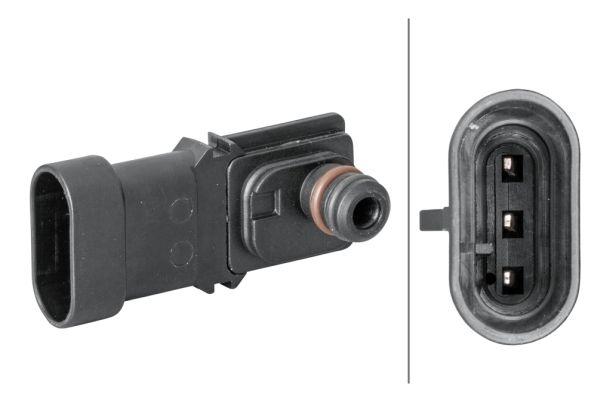 Sensor, Saugrohrdruck Nissan Terrano WD21 1993 - HELLA 6PP 009 400-281 (Anschlussanzahl: 3)