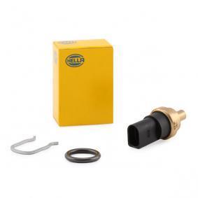 HELLA grau, schwarz, mit Dichtung, mit Sicherungsring Anschlussanzahl: 2 Sensor, Kühlmitteltemperatur 6PT 009 309-331 kaufen