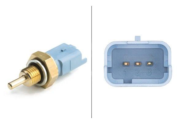 6PT 009 309-521 HELLA blau Anschlussanzahl: 3 Sensor, Kühlmitteltemperatur 6PT 009 309-521 günstig kaufen