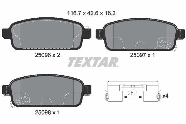 Bremsbelagsatz TEXTAR 2509606