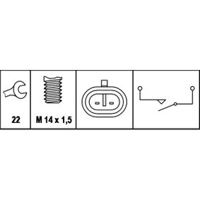 reverse light 6ZF 007 673-001 HELLA Switch