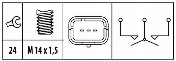 HELLA   Schalter, Rückfahrleuchte 6ZF 181 612-071