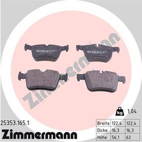 Hinterachse Scheibenbremse HELLA PAGID 8DB 355 021-831 Bremsbelagsatz