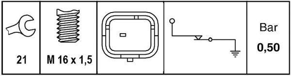 6ZL 009 600-041 Öldrucksensor HELLA in Original Qualität
