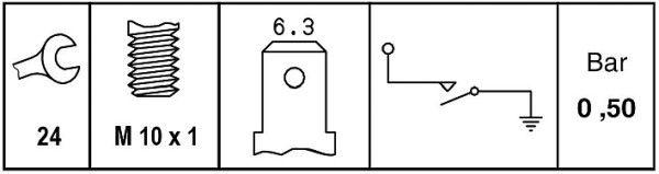 HELLA   Öldruckschalter 6ZL 009 600-071