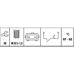 6ZT007801-051 Temperaturkontakt, kølerventilator HELLA - Køb til discount priser
