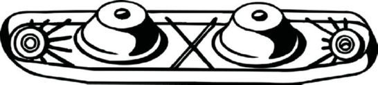 Gummistreifen, Abgasanlage Golf 6 2012 - BOSAL 255-797 ()