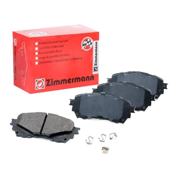 25725 ZIMMERMANN Höhe: 60mm, Breite: 140mm, Dicke/Stärke: 16mm Bremsbelagsatz, Scheibenbremse 25725.155.1 günstig kaufen