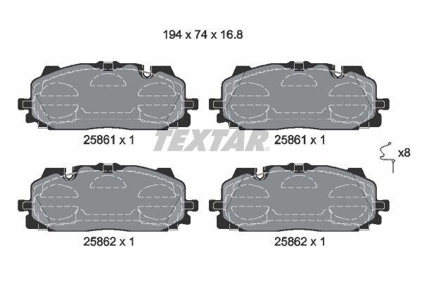 2586101 TEXTAR Stabdžių trinkelių rinkinys, diskinis stabdys - įsigyti internetu