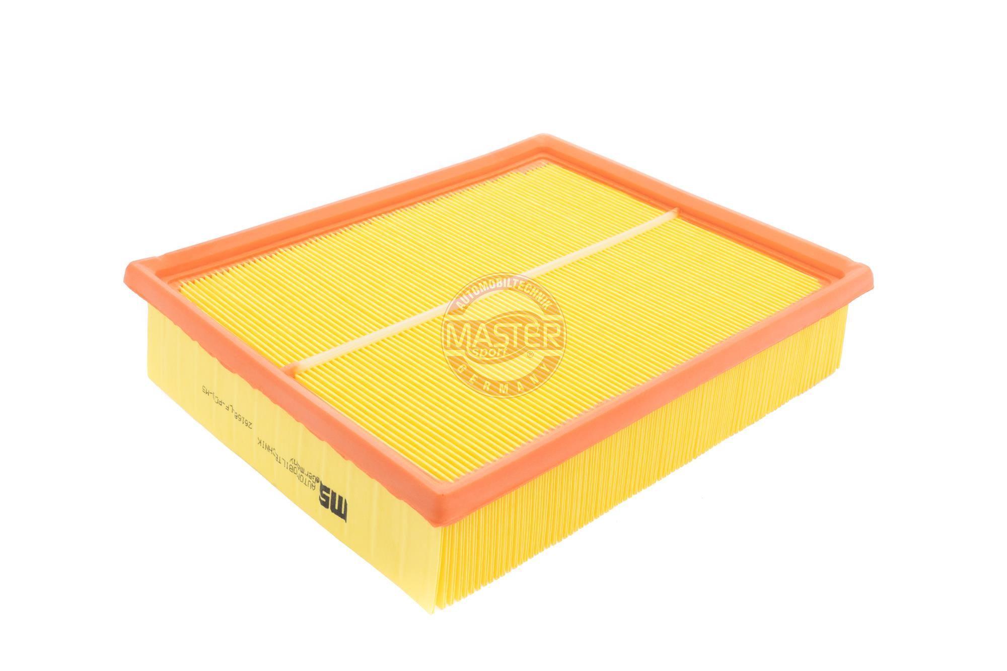 AUDI A6 2016 Luftfilter - Original MASTER-SPORT 26168-LF-PCS-MS Länge: 252mm, Länge: 252mm, Breite: 211mm, Höhe: 57mm