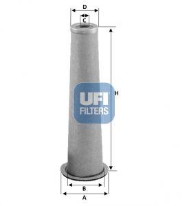 OE Original Sekundärluftfilter 27.A61.00 UFI