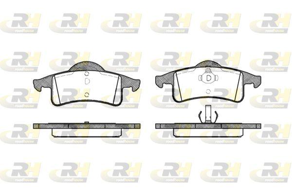D7917661 ROADHOUSE Hinterachse, mit Klebefolie, mit Feder, mit Zubehör Höhe 1: 55,2mm, Höhe 2: 59,2mm, Dicke/Stärke: 17,8mm Bremsbelagsatz, Scheibenbremse 2758.00 günstig kaufen