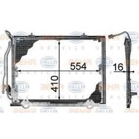 8FC 351 038-464 HELLA Condenser  air conditioning