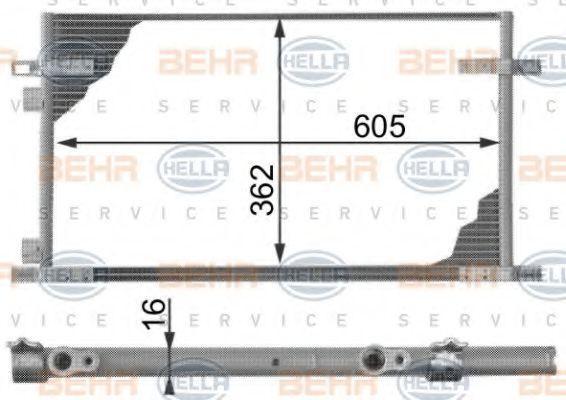 Original RENAULT Kondensator Klimaanlage 8FC 351 300-014