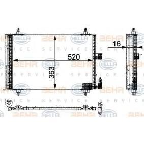 air conditioning BEHR HELLA SERVICE 8FC 351 301-421 *** PREMIUM LINE *** Condenser