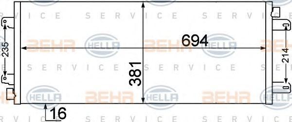 Original RENAULT Kondensator Klimaanlage 8FC 351 306-651