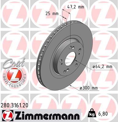 280.3161.20 Спирачен диск ZIMMERMANN - опит