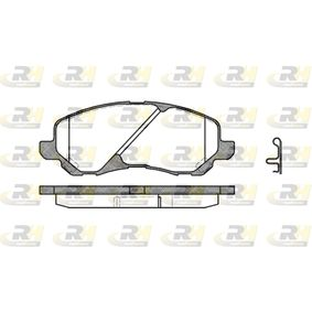D8667741 ROADHOUSE Vorderachse, inkl. Verschleißwarnkontakt, mit Zubehör, mit Feder Höhe: 55mm, Dicke/Stärke: 16mm Bremsbelagsatz, Scheibenbremse 2804.02 günstig kaufen