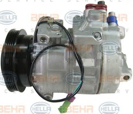 HELLA: Original Kompressor 8FK 351 126-981 (Riemenscheiben-Ø: 120mm)