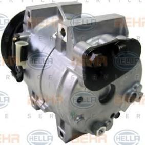 8FK 351 133-451 Kompressor, klimatanläggning HELLA - Billiga märkesvaror