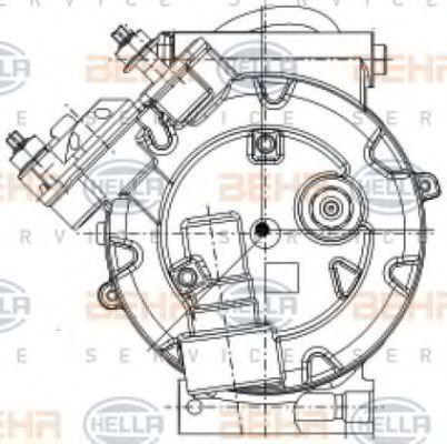 8FK351334391 Kompressor, Klimaanlage HELLA 8FK 351 334-391 - Große Auswahl - stark reduziert
