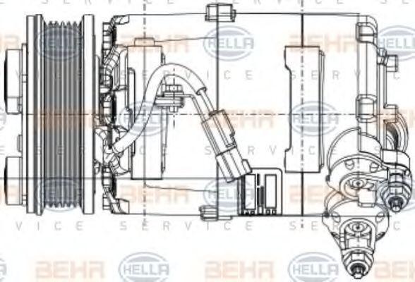 8FK 351 334-391 Klimaanlage Kompressor HELLA - Markenprodukte billig