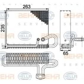 air conditioning BEHR HELLA SERVICE 8FV 351 330-161 PREMIUM LINE Evaporator