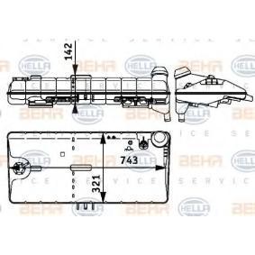 Ausgleichsbehälter, Kühlmittel HELLA 8MA 376 705-381 mit 19% Rabatt kaufen