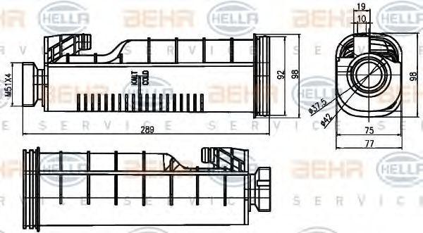 Kühler Ausgleichsbehälter HELLA 8MA 376 755-091