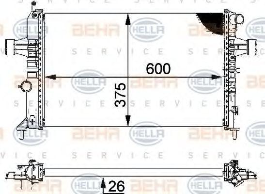 Охлаждане двигател 8MK 376 710-314 с добро HELLA съотношение цена-качество