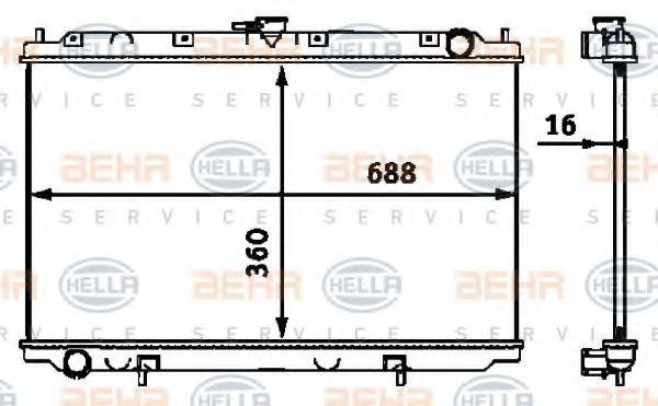 8MK 376 718-491 HELLA Kühlrippen gelötet, Schaltgetriebe Kühler, Motorkühlung 8MK 376 718-491 günstig kaufen