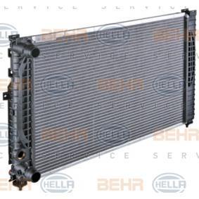 8MK 376 720-591 KühlerWasserkühler Motorkühler Autokühler HELLA