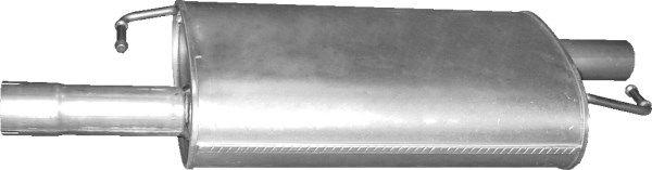 Volkswagen EOS Middle silencer POLMO 30.221: