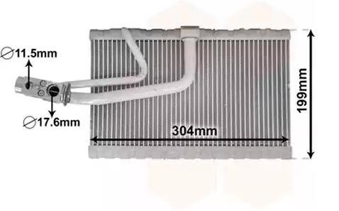 Original RENAULT Verdampfer Klimaanlage 3000V641