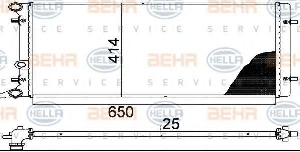 HELLA: Original Motorkühler 8MK 376 888-784 ()
