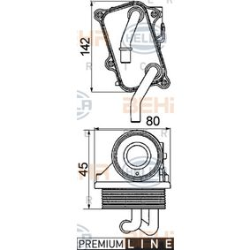 8mo 376 725-231 Hella Ölkühler Motoröl
