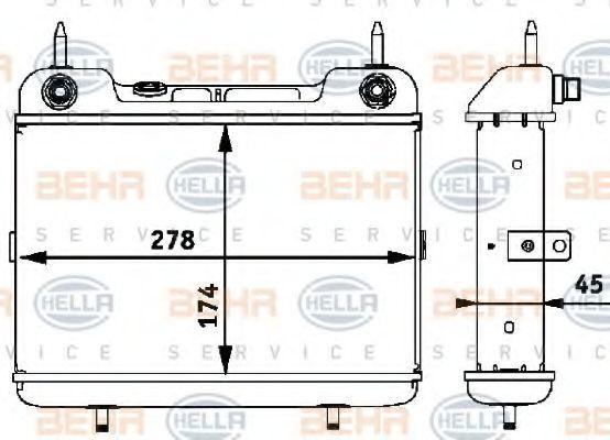 8MO 376 725-381 HELLA HELLA BLACK MAGIC Ölkühler, Automatikgetriebe 8MO 376 725-381 günstig kaufen