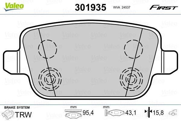 301935 Bremsbelagsatz VALEO - Markenprodukte billig