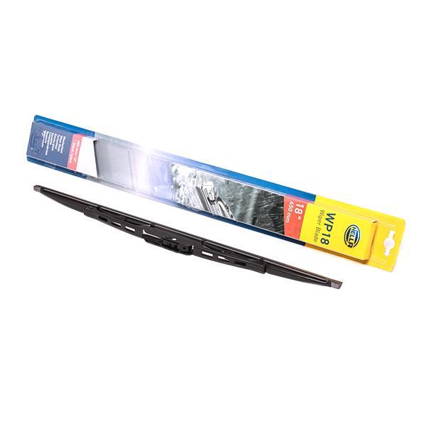 WP18 HELLA Front, Bracket wiper blade, 450mm Left-/right-hand drive vehicles: for left-hand drive vehicles Wiper Blade 9XW 178 878-181 cheap