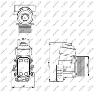 Radiatore olio, Olio motore 31355 comprare - 24/7!